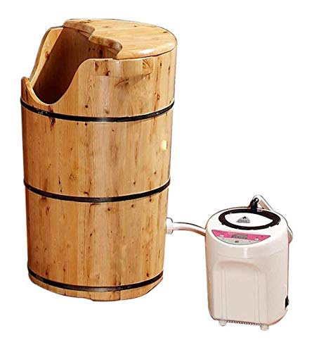 WANG XIN Fuß Wanne-Badebottich Holz Pediküre-Becken Massage-Becken Spa for Haushalt Schlaf 60cm hoch