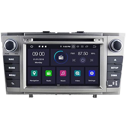 Autosion Android 10 Octa Core 4+64 Go DVD de voiture stéréo GPS Radio de navigation Wifi pour Toyota Avensis T270 2008 2009 2010 2011 2012 2013 Bluetooth Steeirng Wheel Control