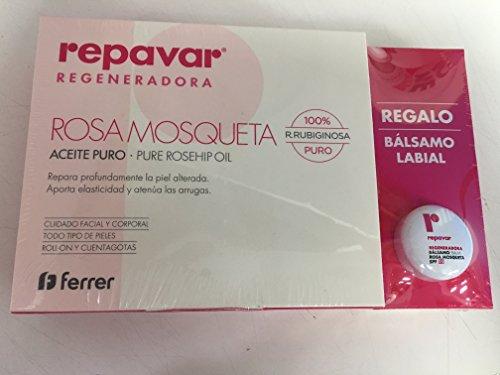 REPAVAR ACEITE ROSA DE MOSQUETA 15ML + REGALO BÁLSAMO LABIAL SPF15 10ML