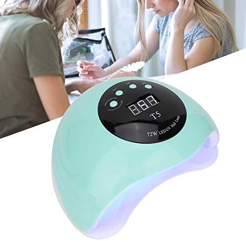 Lampada UV-LED Professionale 72W con timer digitale 10/30/60/99 secondi e sensore interno automatico(Verde n. 11)