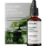 NUEVO: CLOROFILA Líquida Essential Gotas   200 mg de liquid chlorophyll de alfalfa   Natural, Sin aditivos, Con agua de ósmosis   Probado en laboratorio   50 ml