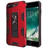 Jaligel - Funda para iPhone 7 Plus/8 Plus, iPhone 6 Plus, funda con soporte (trabajo con soporte magnético para coche) Bumper de silicona protectora Slim Armor antiarañazos