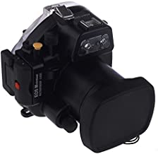 EACHSHOT 40M Waterproof Underwater Camera Housing Case Bag for Canon EOS M with 18-55mm Lens