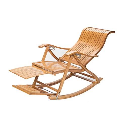 LLSS Silla Plegable, Mecedora Masaje para Acampar, Balcón Ajustable Plegable de Ocio, Tumbona Relajante para Personas Mayores