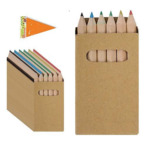 Piñata Cumpleaños Infantil Partituki. 10 Sets de 6 Lápices de Colores y una Guirnalda de 10mts. Ideal como Detalles para Niños, Fiesta Cumpleaños Infantil y Regalos Fiestas Colegio