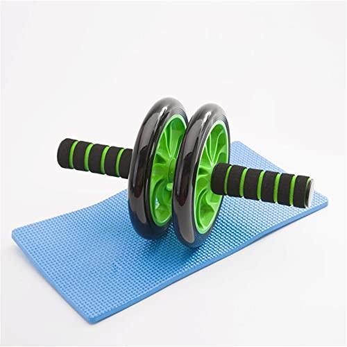 AB Roller Ruota per Esercizi Addominali, Attrezzo per Allenamento Fitness doppie Rotelle con Tappetino per le ginocchie (Verde)