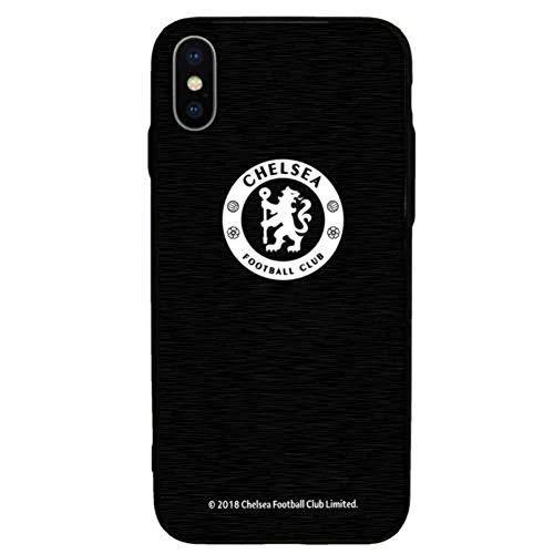 Chelsea F.C. - Custodia in alluminio per iPhone X - Nero - taglia unica
