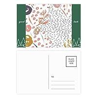 抽象芸術の植物パターン グッドラック・ポストカードセットのカードを郵送側20個