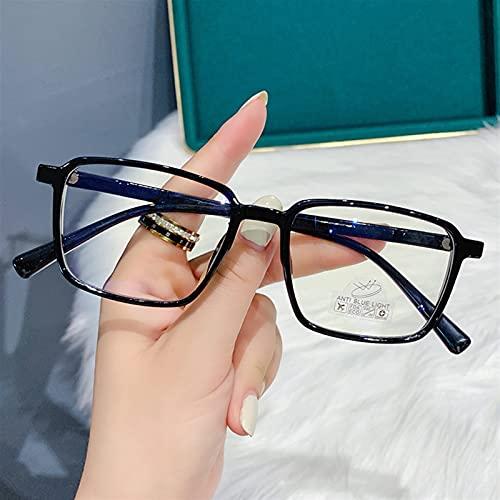 WWWL Gafas de Lectura, Anti-Blue Light Gafas Mujeres Lectura Gafas Hombres Vintage Transparente Lentes Presbicia (Color : 0, Size : Black)