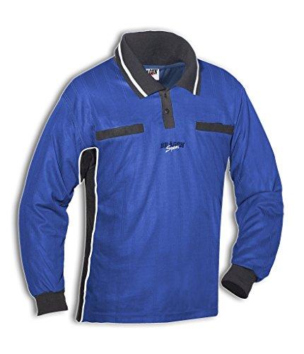 DragonSport Schiedsrichter-Shirt WIESEL Langarm, Farbe:royal/schwarz, Größe:7XL