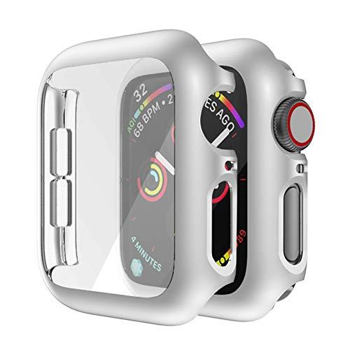 MroTech Kompatibel mit Apple Watch Series 2/Serie 3 42mm Hülle Mit Bildschirmschutz Hart PC R&um Schutzhülle für iWatch Hülle Schutz Hülle Rahmen Vollschutz Bildschirm Schutzrahmen Gehäuse-42 mm Silber