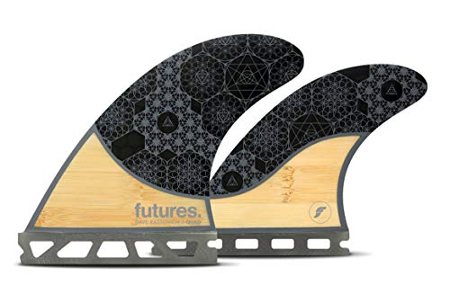 Futures Fins – Rasta HC Quad – Bambus/Grau • Leichte Wabenflossen Quad Fins Set (5 Fins) • Surfbrett, Fisch, Longboard (Rasta HC Quad)