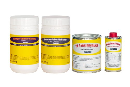 Tankdoc Tanksanierung Box 4-teilig für 45 Liter Tank Farbe lichtgrau (Box 45 lichtgrau)
