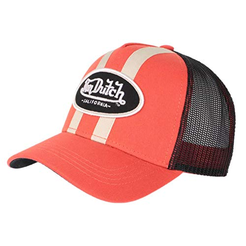 Von Dutch Gorra de béisbol Trucker Classico para Hombre (Stripe Orange)
