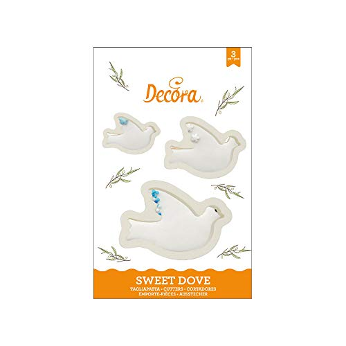 Decora 0255407 Kit 3 Tagliapasta Colomba in Plastica