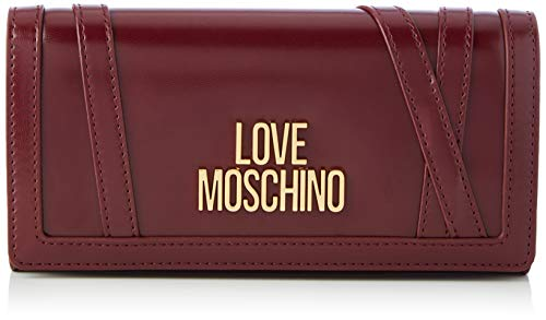 Love Moschino JC5649PP0BKS0552, Billetera para Mujer, Vino, Normale