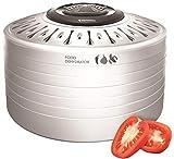 Espressions Voedseldroger voor groente, vlees en kruiden, 5 droogrekken, 3 temperatuurstanden