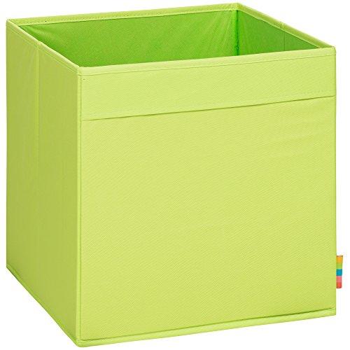 Storanda) Aufbewahrungsbox MIO - Extra Stabile MDF Ausführung - Faltbox - Korb - 33x33x33 cm - (Apfelgrün)