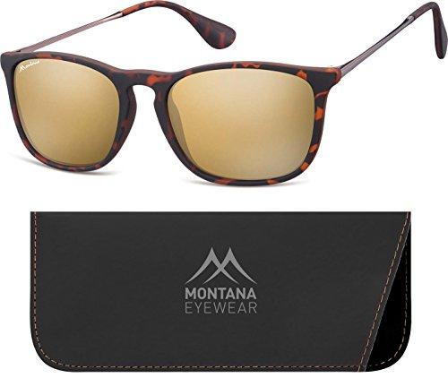 Montana Eyewear Sunoptic MS34D Sonnenbrille in havanna aus Kunststoff, inklusive Softetui