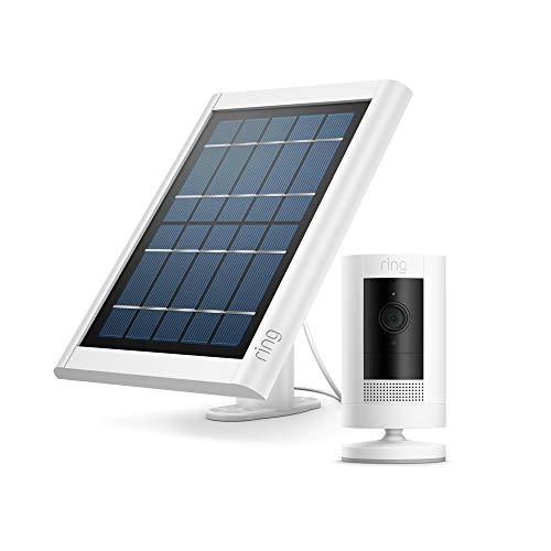 Nuova Ring Stick Up Cam Solar, videocamera di sicurezza in HD, con...