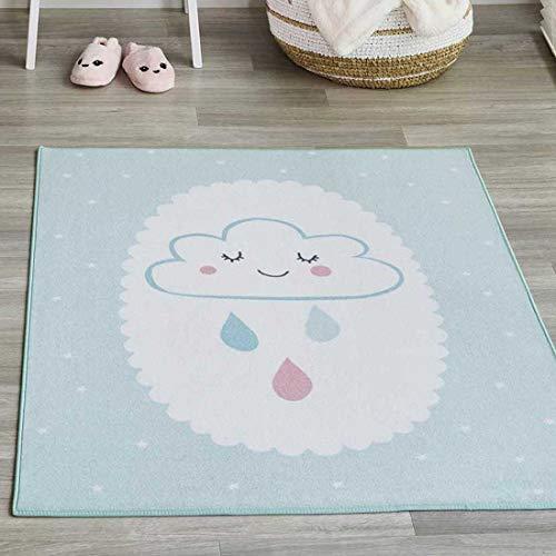 Unamourdetapis Teppich für Kinderzimmer Cuddle Cloud MD, Blau