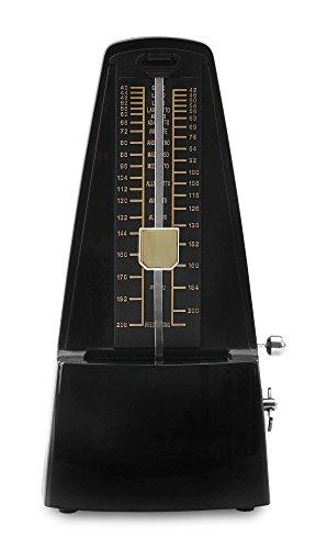 Classic Cantabile M01 Metronoom met bel zwart-hoogglans (mechanisch, instelbare takttypes, vliegpendel, in piramidevorm)