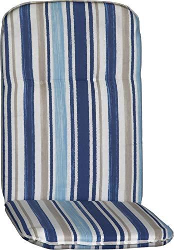 Beo Auflage für Hochlehner Gartenmöbel Polsterauflage Streifen blau hellblau beige Weiss
