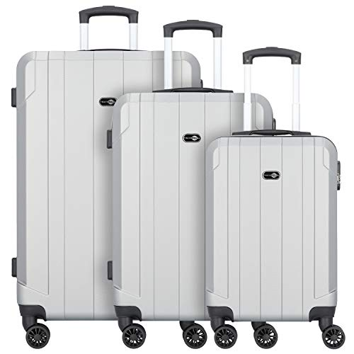 Travel Pal Brisbane 2.0 Suitcase 4 Wheels Set 3pcs. with Double-Wheels