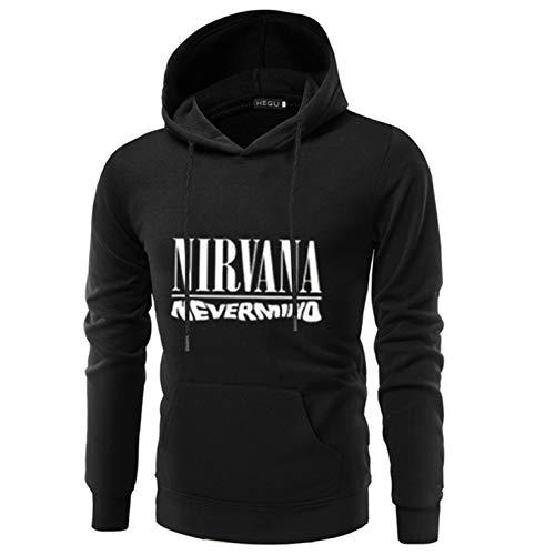 DWWW opmerkelijke mannen American Rock Band Nirvana Letter Print Hooded lange mouw Sweatshirt