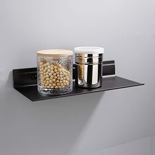ZOTO Duschablage Ohne Bohren, Duschkorb Selbstklebender Sandstrahlen+Raum Aluminium für Ablage Dusche(L-Typ)