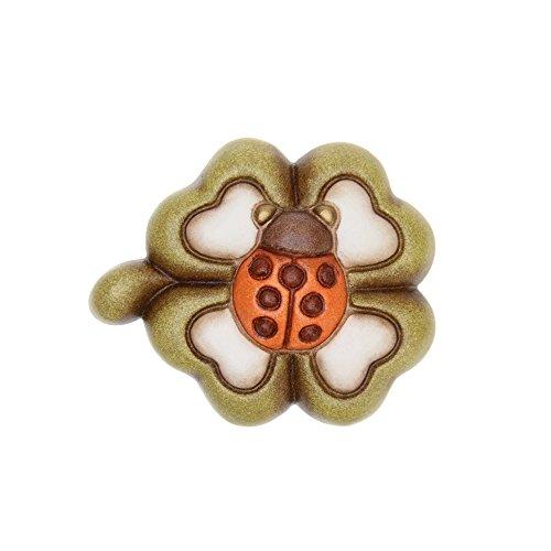 THUN Magnete con Quadrifoglio Ceramica 5 x 5,2 cm
