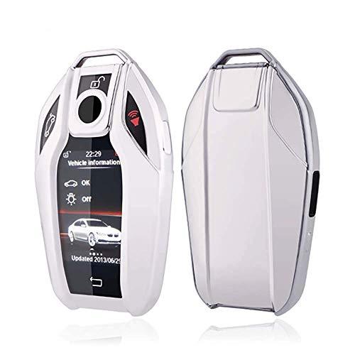 XINERJIA Smart Display Remote Key Fob Cover Case Soft TPU Key Shell Holder Protector Fit para BMW 7 Series 740i 750li 750d 760li 5 Series 528li 530li 540li G01 G11 G12 G30 G31 X3 BMW I8 con Llavero N