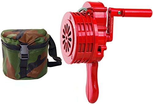 Pro-Lift-Werkzeuge Handsirene 110 dB Handkrubel-Sirene tragbar Alarm manuell THW Feuerwehr ABS-Kunststoff