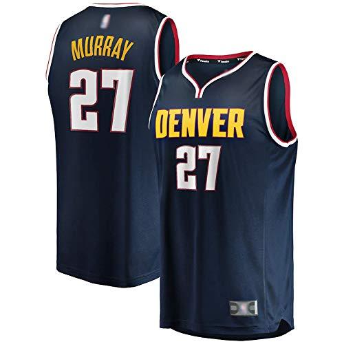 THDB Camiseta de baloncesto al aire libre Nuggets Murray # 27 azul marino, Jamal Denver 2019/20 Réplica de Réplica de Jugador Jersey de Secado Rápido Sudadera para Hombres -Icon Edition