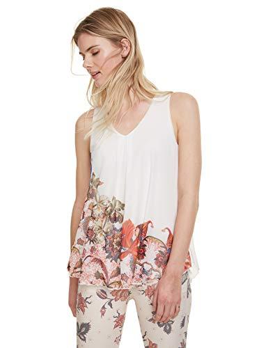 Desigual Damen Scarlett T-Shirt, Weiß (Blanco 1000), X-Large (Herstellergröße: XL)