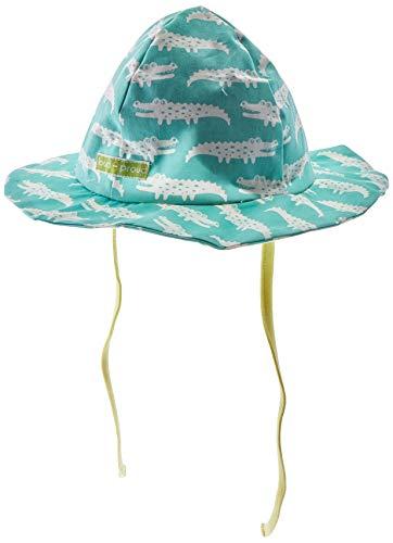 loud + proud Hat with Print Organic Cotton Sombrero, Verde (Mint Min), 62/68 para Bebés