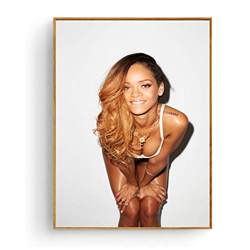 XuFan Sexy Rihanna Poster and Print Wall Art Picture Painting Home Decor Wall Decor Print on Canvas Wall decor/60X80cm-No Frame