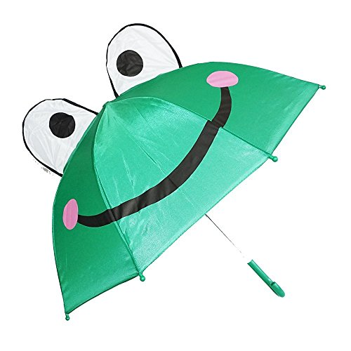 Rhode Island Novelty Kiddi Choice 3D PopUp Frog Cute Umbrella, Green