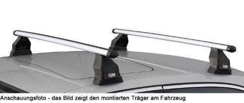 MENABO Dachträger Tema kompatibel mit Opel Astra J (Schrägheck 5 Türer) 2010-2016 Aluminium