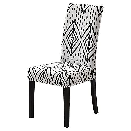 SKYROPNG Universal Dining Chair Schonbezüge - Stretch Protective Seat Line Geometry Abnehmbare Armlose Sitzbezüge Für Restaurant Bankett Hotel Home Decoration, 1, Stck