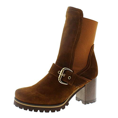 Zapatos Mujer Botas Botines Pedro Miralles 24935 Cuero 38