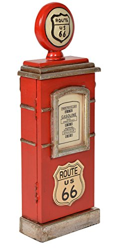 ts-ideen Retro Schlüssel-Kasten Wand-Schrank Box Aufbewahrung Zapfsäule in rot 48 x 17 cm