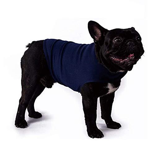 WingFly Hundemantel Beruhigungsweste Hund Anxiety Shirt Stressabbau für Hunde Angst Hundeangst Jacke Hundeentlastungs Haustier Kleidung Haustier Emotionale Beruhigend (S, Blau)