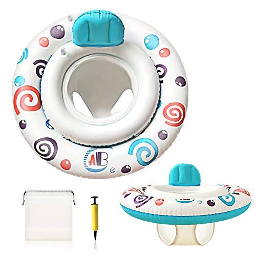 Joso Baby Schwimmring, Baby Schwimmhilfe Aufblasbarer Schwimmen Float mit Doppelschicht-Schwimmreifen zum Verhindern umgestürzt, für Baby von 6 bis 36 Monate