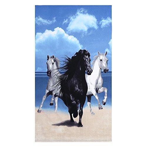 Strandtuch, Patterned Wasser-Streifen-saugfähig, schnell trocknend, leicht, Decke 100 x 180 cm