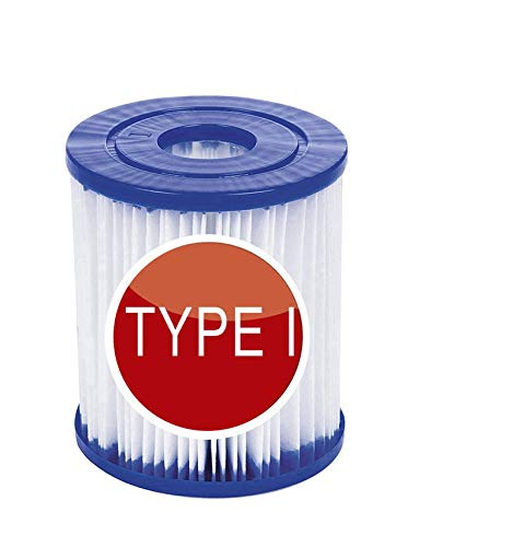 SYANO Pool-Filterkartusche Größe 1 für Bestway, aufblasbarer Pool-Filter, einfache Installation, Filterkartusche, Ersatz, für Rohrreinigung. (4Stück)