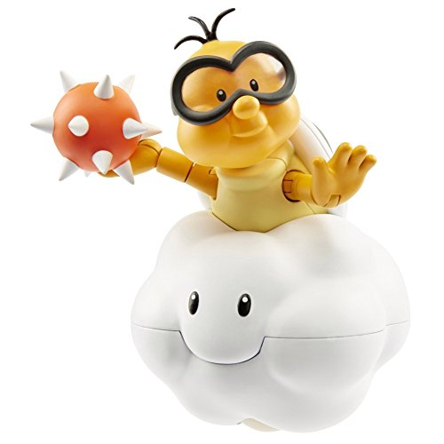 World of Nintendo Lakitu with Spike Ball Action Figure, 4'