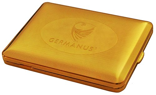 GERMANUS Zigarettenetui, Made in Germany, 100 mm, Mit echtem Gold vergoldet, Motiv GERMANUS