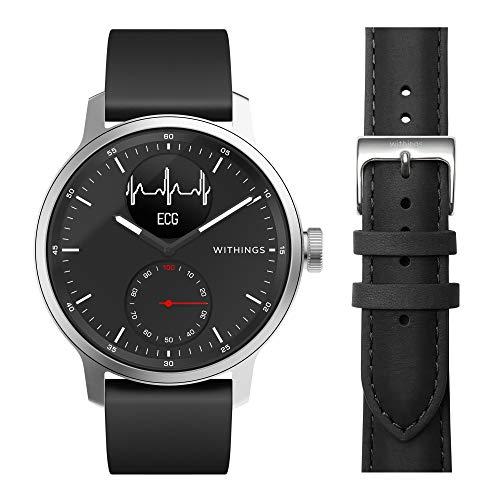 Withings ScanWatch - Reloj Inteligente híbrido con ECG, tensiómetro y oxímetro, 42 mm, Color Negro + Nokia Salud Reloj de Pulsera, Edición Limitada, Color Negro