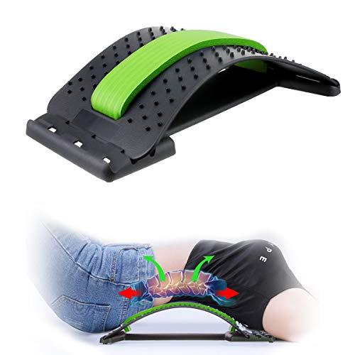 CAMTOA Back Stretcher, Lumbar Back Pain Relief, Multi-Level Lumbar Support Device, Back Massager...